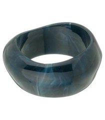 bracelete largo de resina preto