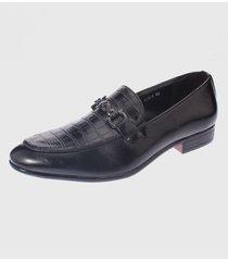 zapato de vestir negro casatia