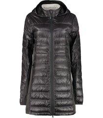 canada goose hybridge lite long hooded down jacket