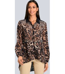 blouse alba moda marine::beige