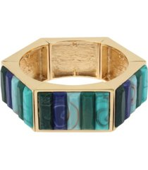 jessica simpson stone geometric stretch bangle bracelet
