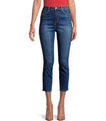 l'agence women's margot high-rise satin tux tape skinny jeans - neptune - size 29 (6-8)