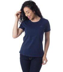 camiseta com logomarca básica thiago brado 6027000010 marinho - marinho - pp - feminino