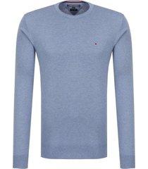 sweater azul tommy hilfiger cotton silk cneck