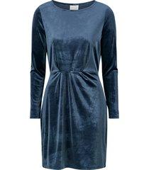 sammetsklänning viminny velvet l/s detail dress