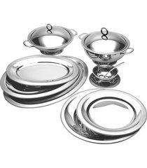 baixela brescia prata - 9 peças - riva