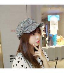 sombrero de algodón de rayas para mujer-blanco y negro