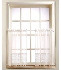 "closeout! joy lace 60"" x 24"" pair of tier curtains"