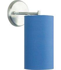 arandela cilãndrica de cãºpula 14x25cm azul - azul - dafiti