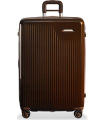 sympatico large expandable spinner suitcase - bronze