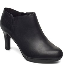 adriel lily shoes boots ankle boots ankle boot - heel svart clarks