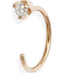 women's zoe chicco single diamond open hoop earring