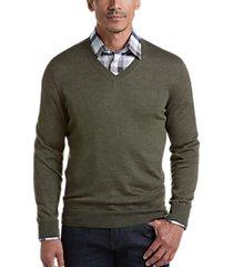 joseph abboud olive 37.5® technology v-neck sweater