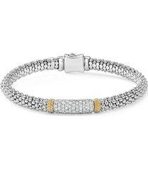 lagos caviar lux diamond caviar bracelet, size small in silver at nordstrom
