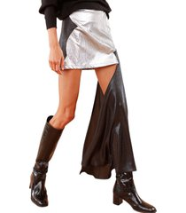 falda cortes plata caro criado