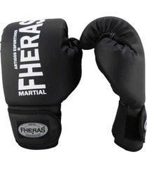luva boxe muay thai fheras new trade preto 14 oz