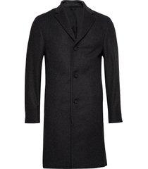 cashmere wool crombie coat yllerock rock svart calvin klein