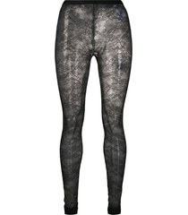 redvalentino sheer floral lace tights - black