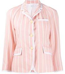 thom browne vertical-stripe jacket - pink