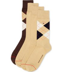 tommy hilfiger men's 4-pack argyle dress socks