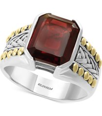 effy men's rhodolite garnet ring (6-3/8 ct. t.w.) in sterling silver & 18k gold