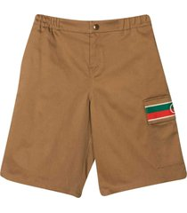 shorts with web decoration