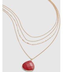 lane bryant women's convertible multi-layer pendant chain necklace onesz starfish coral