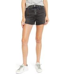 women's ag mikkel high waist denim shorts, size 29 - black