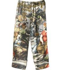 two's company roman atlas pajama pants with drawstring closure