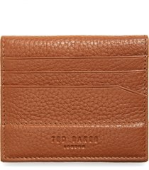 men's ted baker london steemer leather bifold card holder - brown