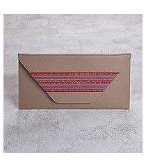 faux leather clutch, 'eco colors' (peru)