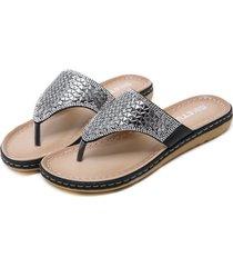 sandalias de mujer sandalias de diamantes de imitación retro