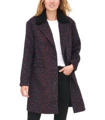 levi's women's animal print overcoat