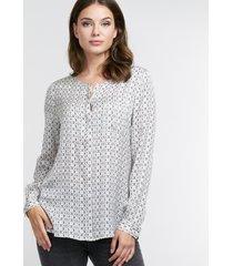 blouse met grafische print