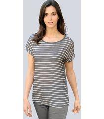 shirt alba moda antraciet::wit
