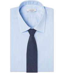 cravatta su misura, marzotto, melange blu, primavera estate | lanieri