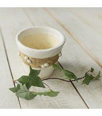 doniczka matowa biel osłonka ceramiczna