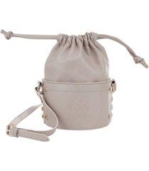 kensie women's fashion drawstring bucket bag