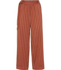pantaloni culotte a righe (marrone) - rainbow