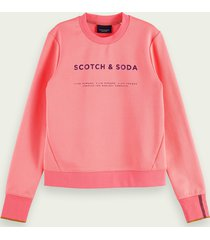 scotch & soda logosweater met ronde hals