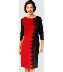 jurk klingel zwart/rood