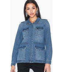 vero moda vmlindy ls cargo denim jacket jeansjackor