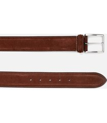 anderson's men's matt silver suede belt - brown - w36/xl