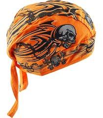 cappello da pirata in cotone da uomo traspirante, regolabile in bicicletta, cuffia da berretto da ballo, copricapo da ballo di strada