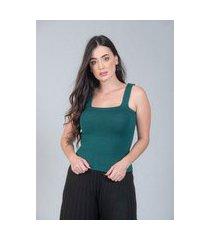 regata charme tricot básico verde