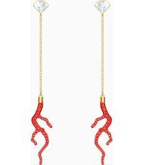 orecchini shell coral, rosso, placcato color oro