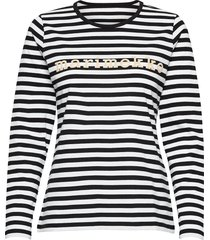 logo mari shirt t-shirts & tops long-sleeved zwart marimekko