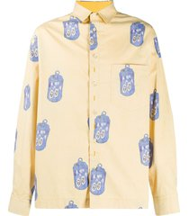 jacquemus can-print reversible shirt - yellow