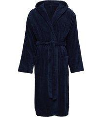 bath robe ochtendjas badjas blauw schiesser