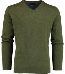 bos bright blue pullover v-hals donkergroen 20305vi01bo/340 pesto